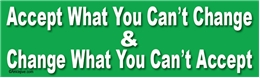 Accept What You Can't Change & Change What You Can't Accept Liberal Progressive Laptop/Window/Bumper Sticker