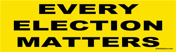 EVERY ELECTION MATTERS - Laptop/Window/Bumper Sticker