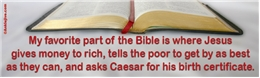 My Favorite Part Of The Bible...! Liberal Progressive Laptop/Window/Bumper Sticker