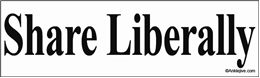 Share Liberally Liberal Progressive Laptop/Window/Bumper Sticker