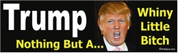 TRUMP - Nothing But A Whiny Little Bitch - Laptop/Window/Bumper Sticker