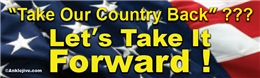 Take Our Country Back??? Let's Take It Forward! Liberal Progressive Laptop/Window/Bumper Sticker