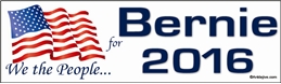 We The People For Bernie 2016 - Laptop/Window/Bumper Sticker