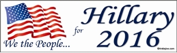 We The People For Hillary 2016 - Laptop/Window/Bumper Sticker