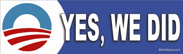 Yes, We Did - Laptop/Window/Bumper Sticker